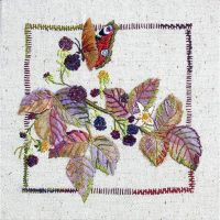 Blackberries Embroidery