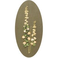 Hollyhock ribbon embroidery kit